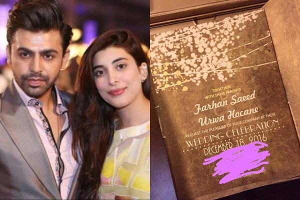 farhan saeed urwa hocane wedding invitation
