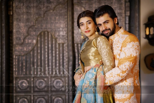 urwa-and-farhan-on-qaeali-night Urwa Hocane Farhan Wedding Pics| Nikah Walima Dholki Barat