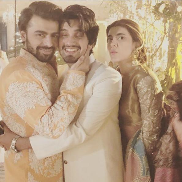uzair-jaswal-on-urwa-farhan-wedding Urwa Hocane Farhan Wedding Pics| Nikah Walima Dholki Barat