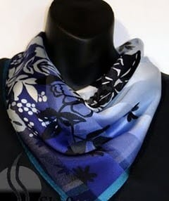 Blue-Stylish-Scarve-For-Girls1 Stylish Scarves For Girls - 2018 Latest Scarves Designs