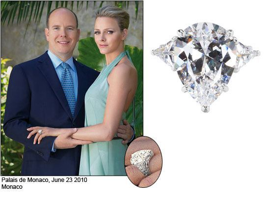 Charlene Wittlock Engagement Ring from Prince Albert of Monaco