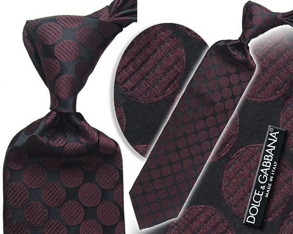 D&G black and red tie