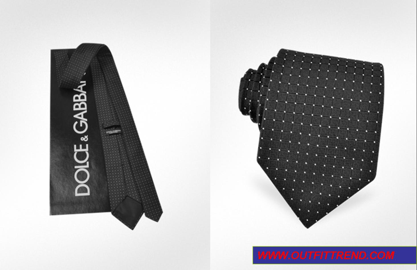 D&G mini dots silk tie