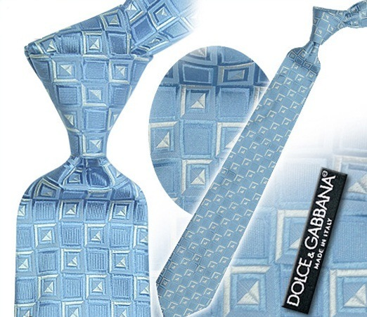 Dolce &Gabbana blue silk tie