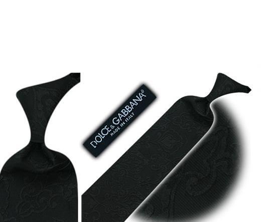 Dolce &Gabbana plain balck silk tie