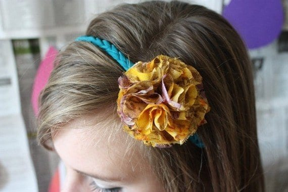 Flower Braided Rope Headband