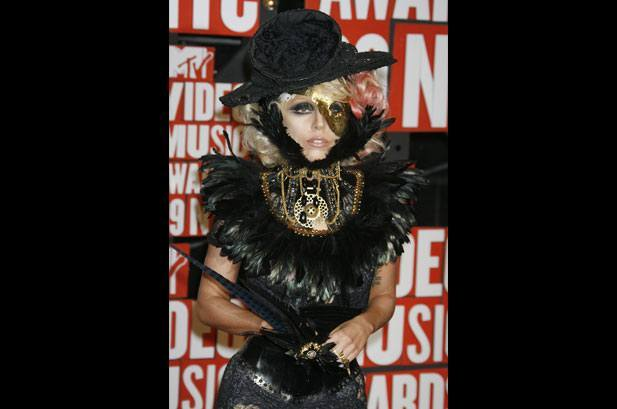 Lady Gaga Black Costume