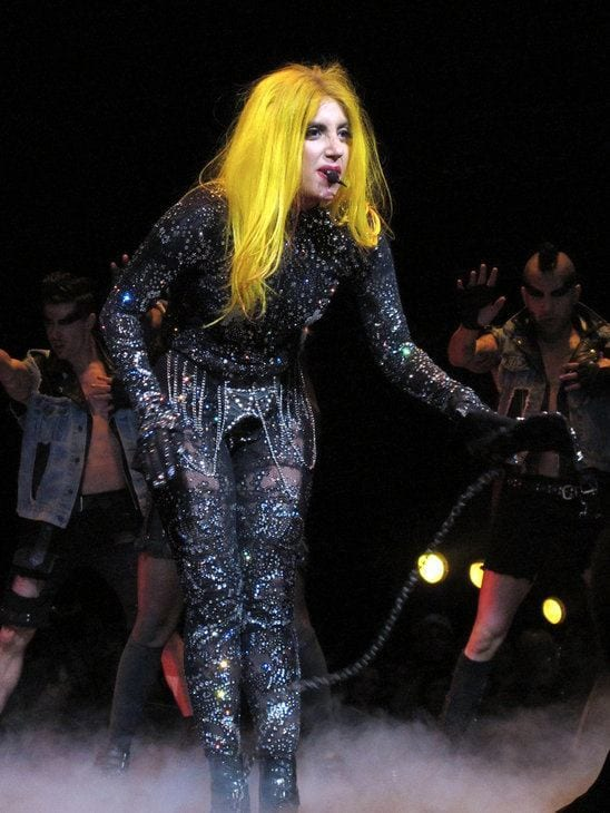 Lady Gaga Crazy Yellow hair style