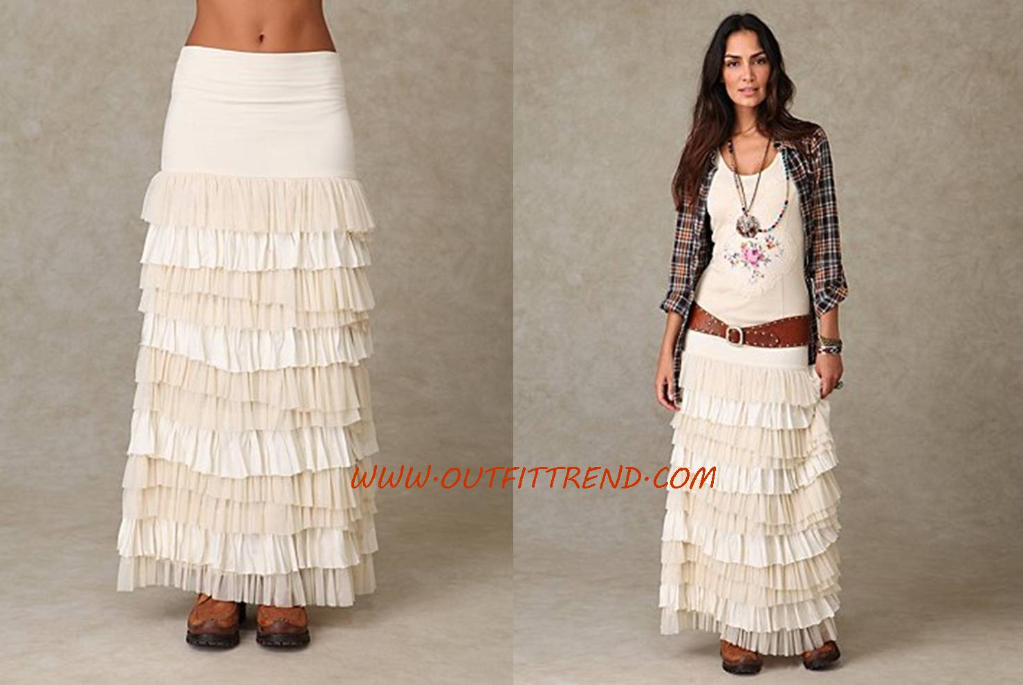 Layerd Maxi Skirt