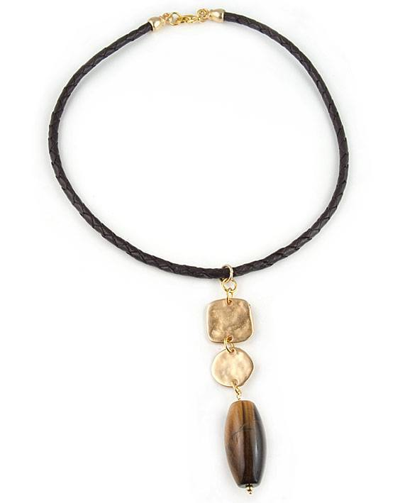 Leather-Pendant-Necklace Awesome Gold Necklaces Collection For Women