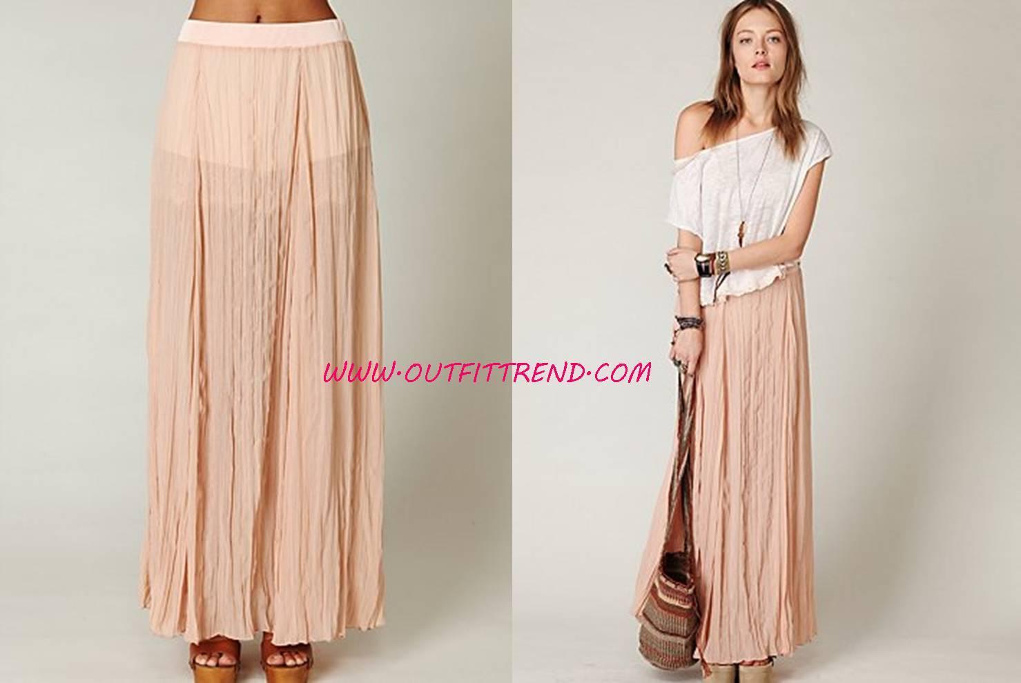 Popular Maxi Skirt Design