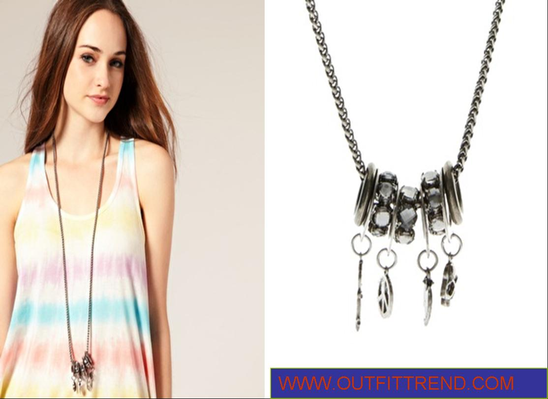 River Island Casual Multi Rings Necklace
