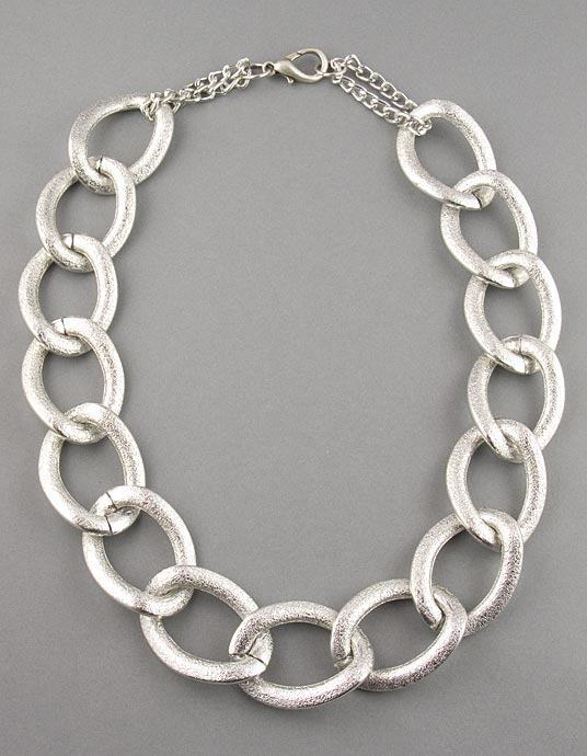 Silver Large Chain Necklace