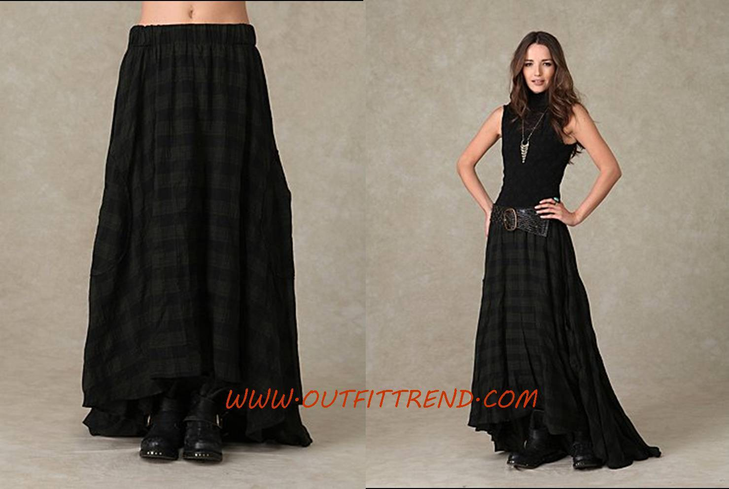 Stylish Black Maxi Skirt