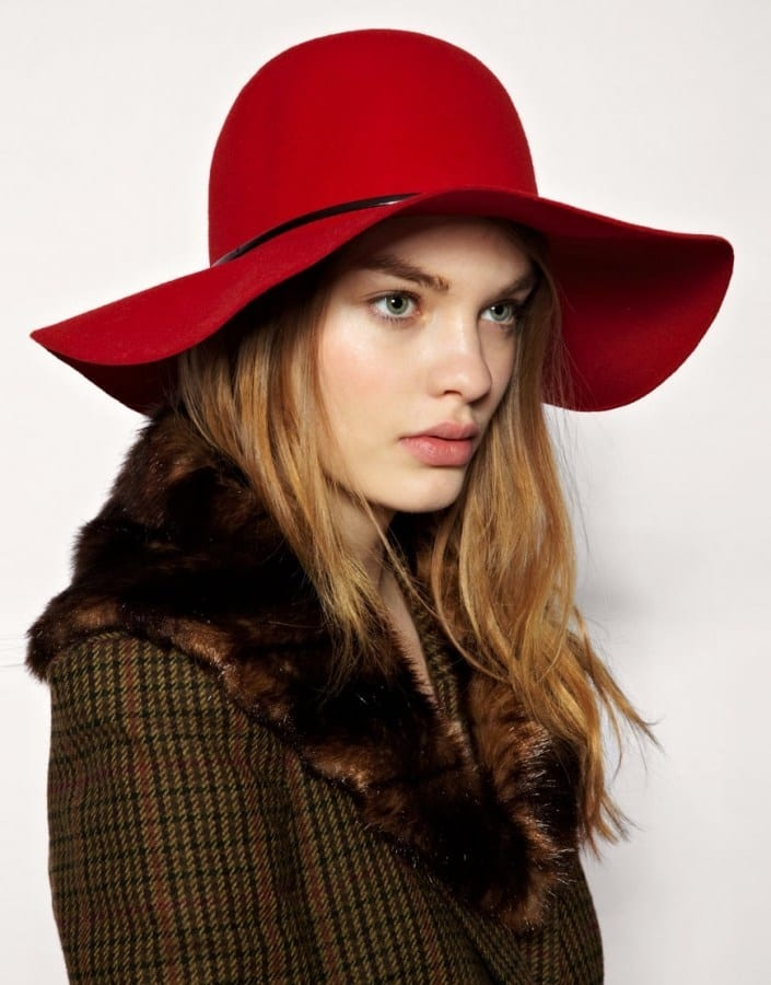 Stylish Red Hat For Girl