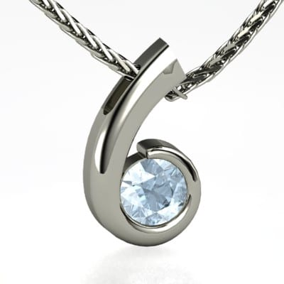 Trendy White Gold Necklace