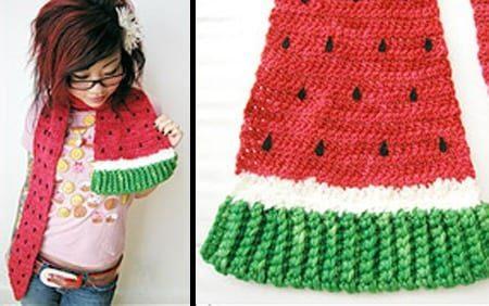 Unique-Scarf-Watermelon 15 Most Unique And Funky Scarves