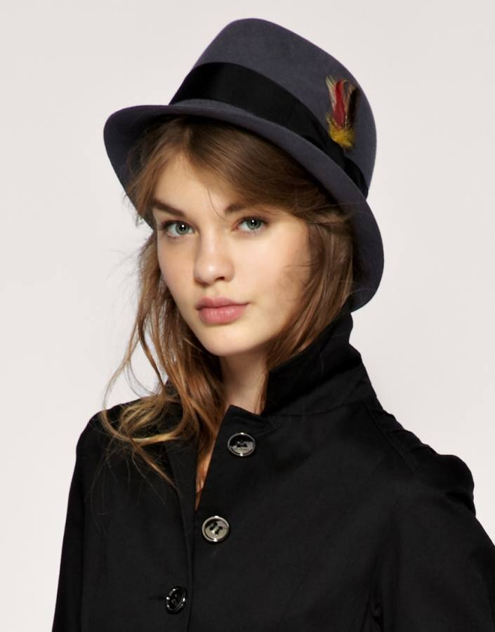 Women-Trilby-Style-Hats 17 Cute Hats for Girls Summer/Spring Season