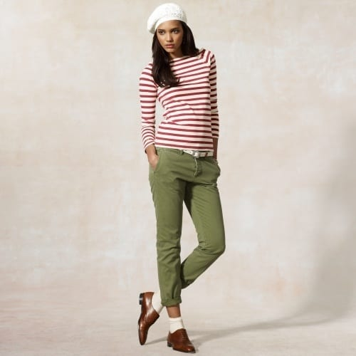 cool-Joleen-Striped-Bateau-Tee Outfits with Striped Shirts-10 Ways to Wear Striped Shirts