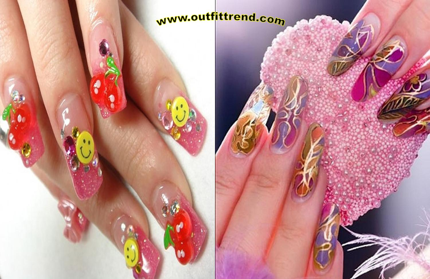 cool flower nail art