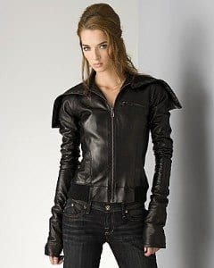 cool-leather-bomber-jacket Stylish Leather Jackets Outfits For women