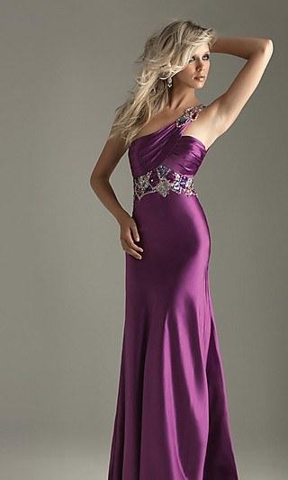 cool purple prom dress