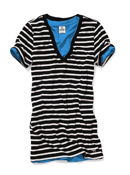 cool stripe Stripe V neck
