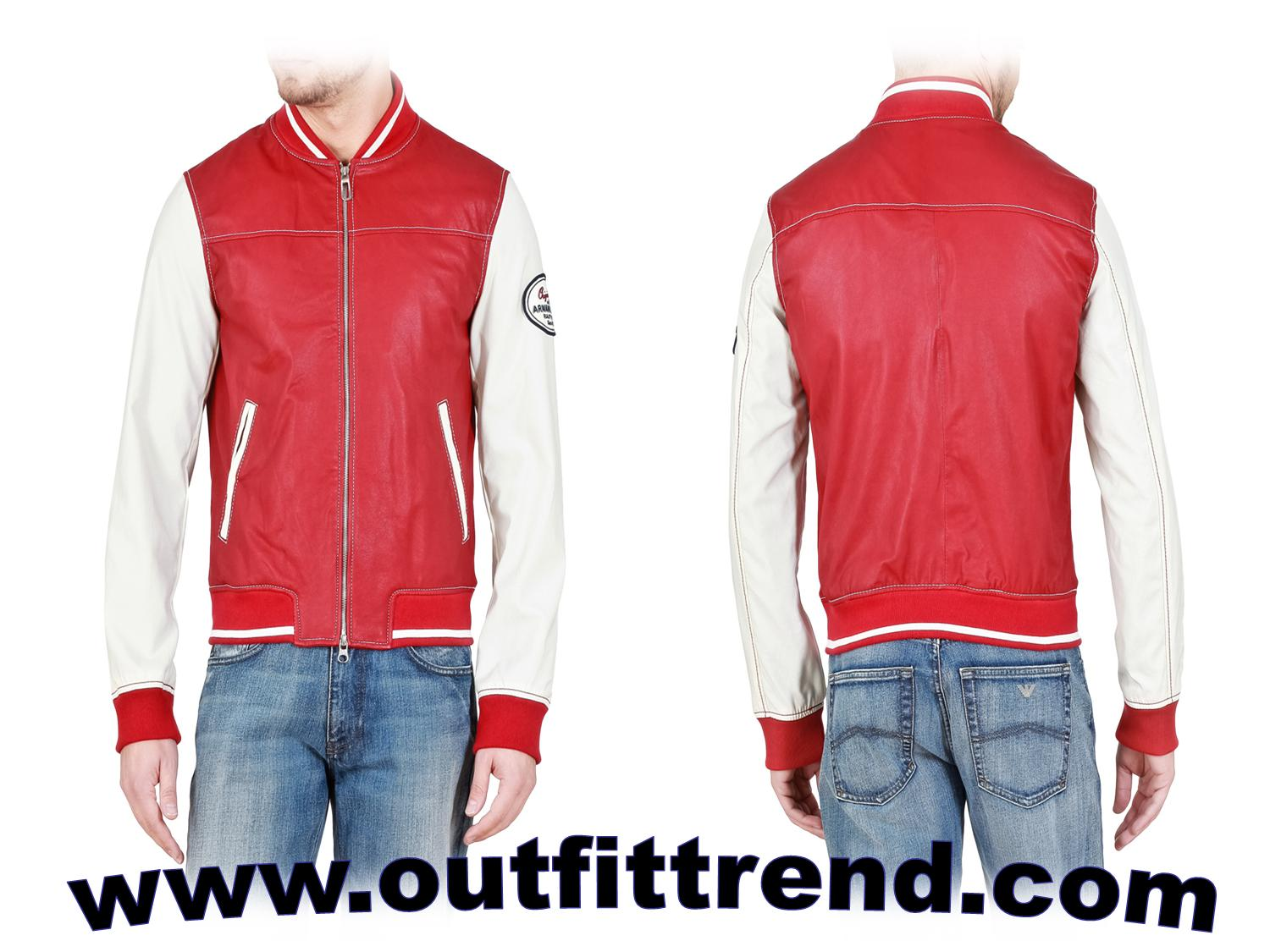 emporio armani boys red jacket