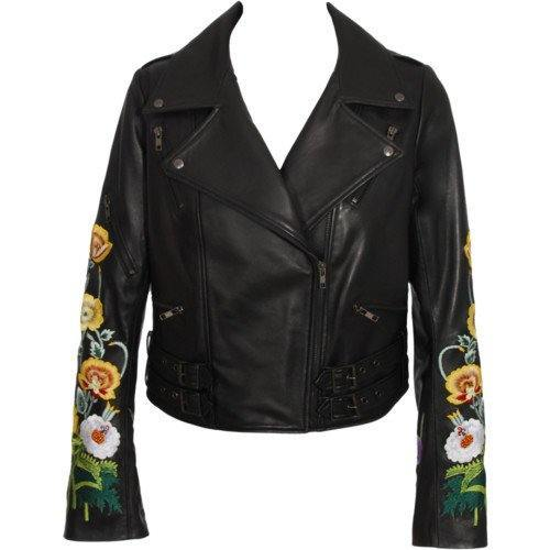 girls-funky-leather-jacket Stylish Leather Jackets Outfits For women