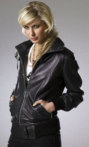 ladies-bomber-jacket Stylish Leather Jackets Outfits For women