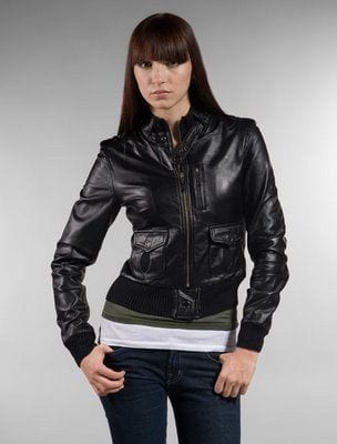 leather-bomber Stylish Leather Jackets Outfits For women