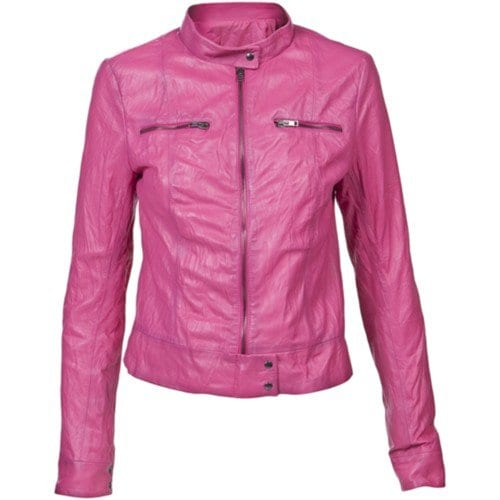 pink fancy leather jacket
