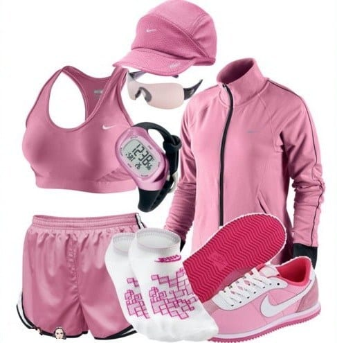 pink-nike-sports-wear 15 Cool Nike Sports Outfits For women-Gym & Workout Outfits