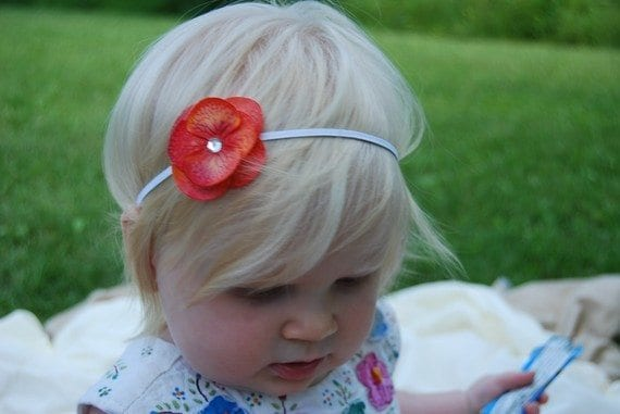stylish flower head band kids