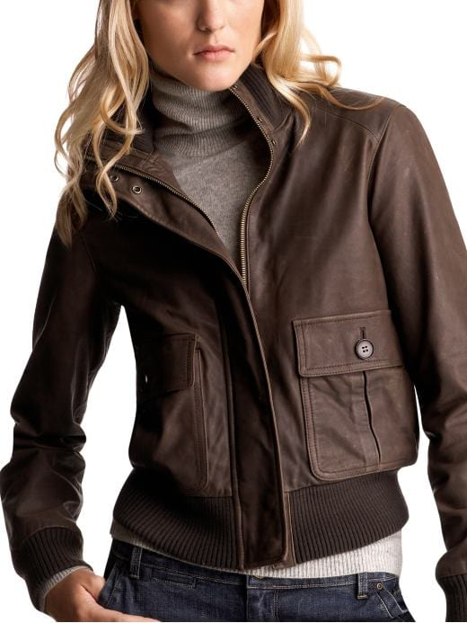 stylish leather bomber jacket girls