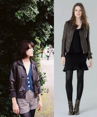 top-models-leather-jackets Stylish Leather Jackets Outfits For women