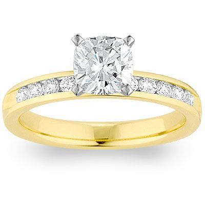 trendy gold engagement ring