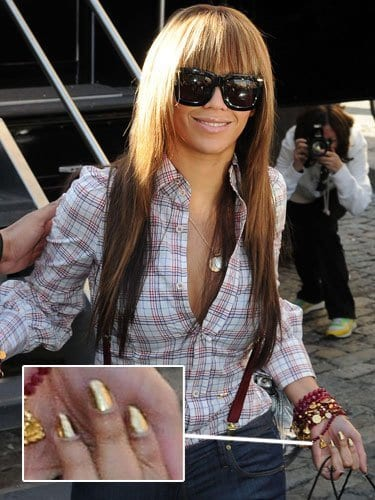 Beyonce-Nail-Fashion Celebrities Nails Fashion and Unique Nail Designs