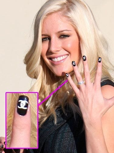 Celebrities-Logo-Nail-Fashion Celebrities Nails Fashion and Unique Nail Designs