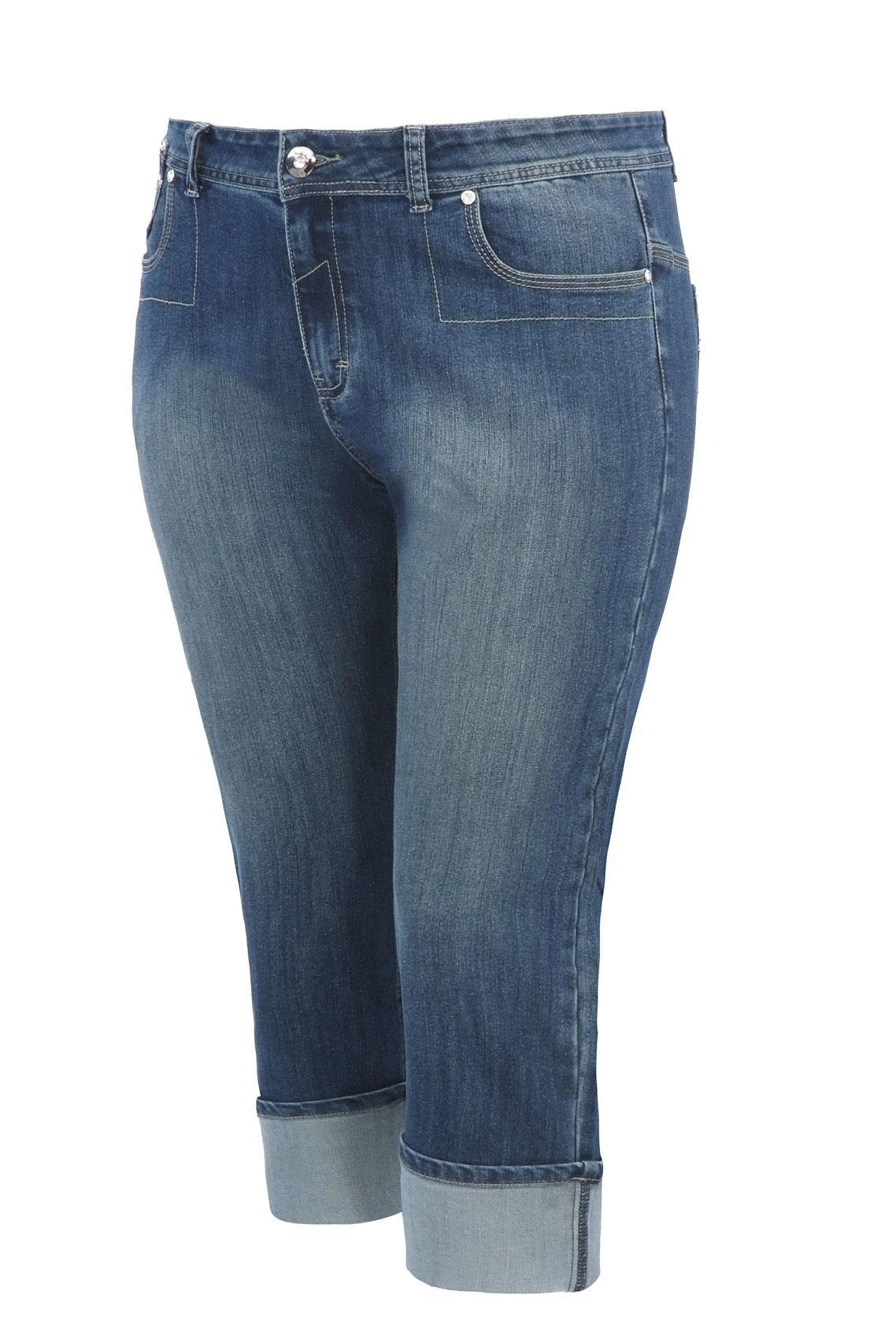 Crop Jeans For Plus Size Women