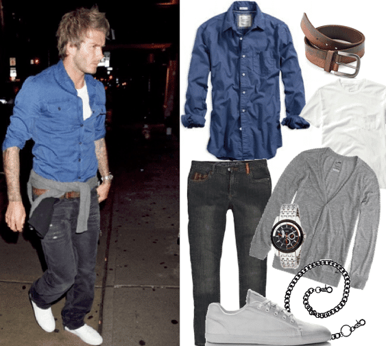 David-Beckham-Funky-Style David Beckham Casual Outfit Style - Celebrities Outfit Ideas
