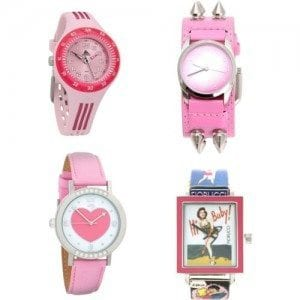 Heart-Shape-Watches-For-Girls Trendy Pink Watches For Teen Girls and Kids
