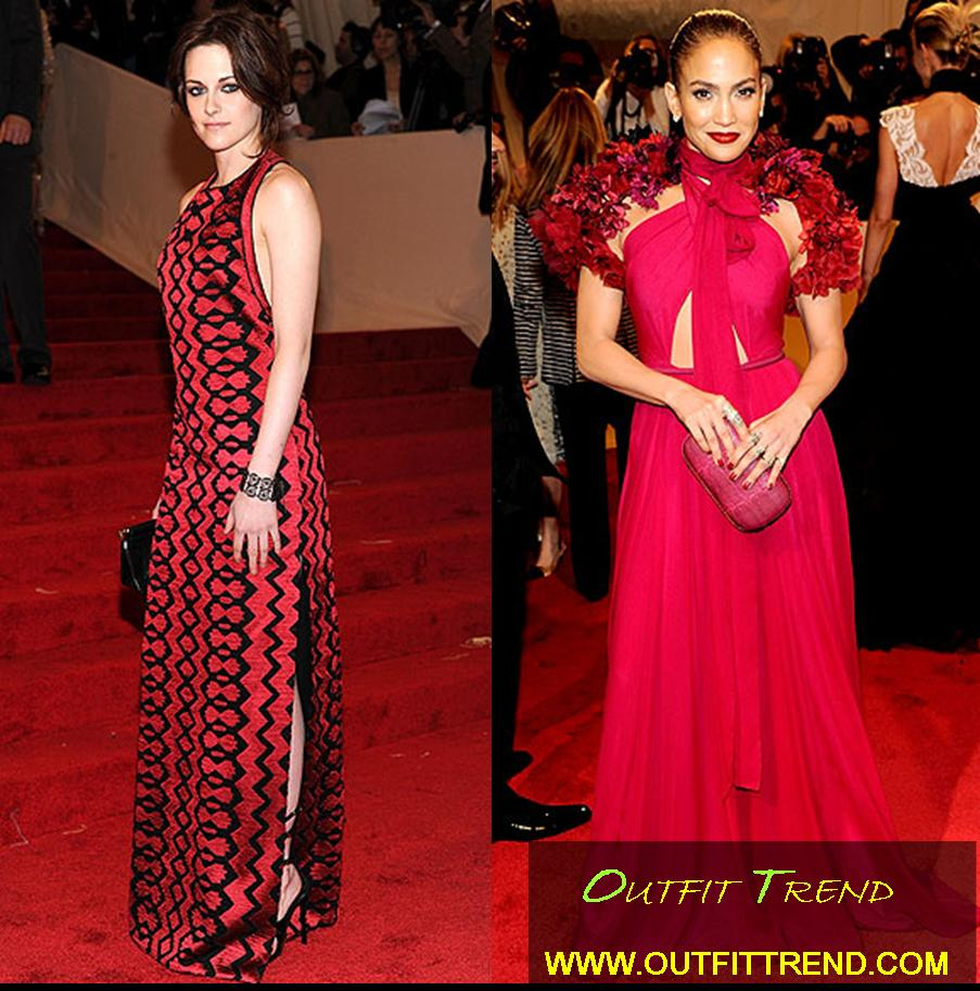 Jlo-and-Kristen-at-Met-Gala-2011 Top Celebrities Dresses and Fashion Outfits at Met Gala 2011