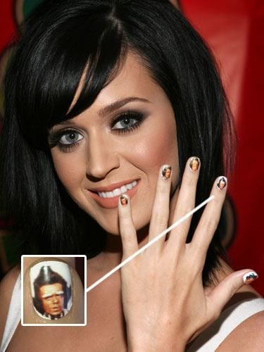 Katy-Perry-Funky-Nails Celebrities Nails Fashion and Unique Nail Designs