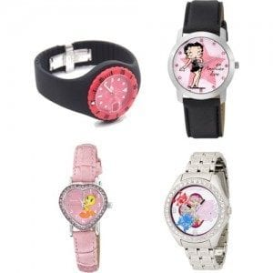 Pink-Shape-Watrches-Hart-Style Trendy Pink Watches For Teen Girls and Kids