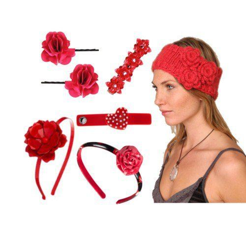 Red-hair-Accessories-For-Girls Pink Fashion Accessories For Teens Girls