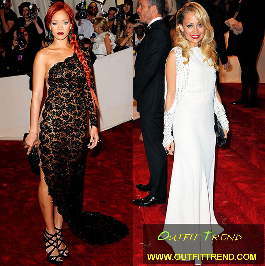 Rihana-Dress-at-Met-Gala-2011 Top Celebrities Dresses and Fashion Outfits at Met Gala 2011