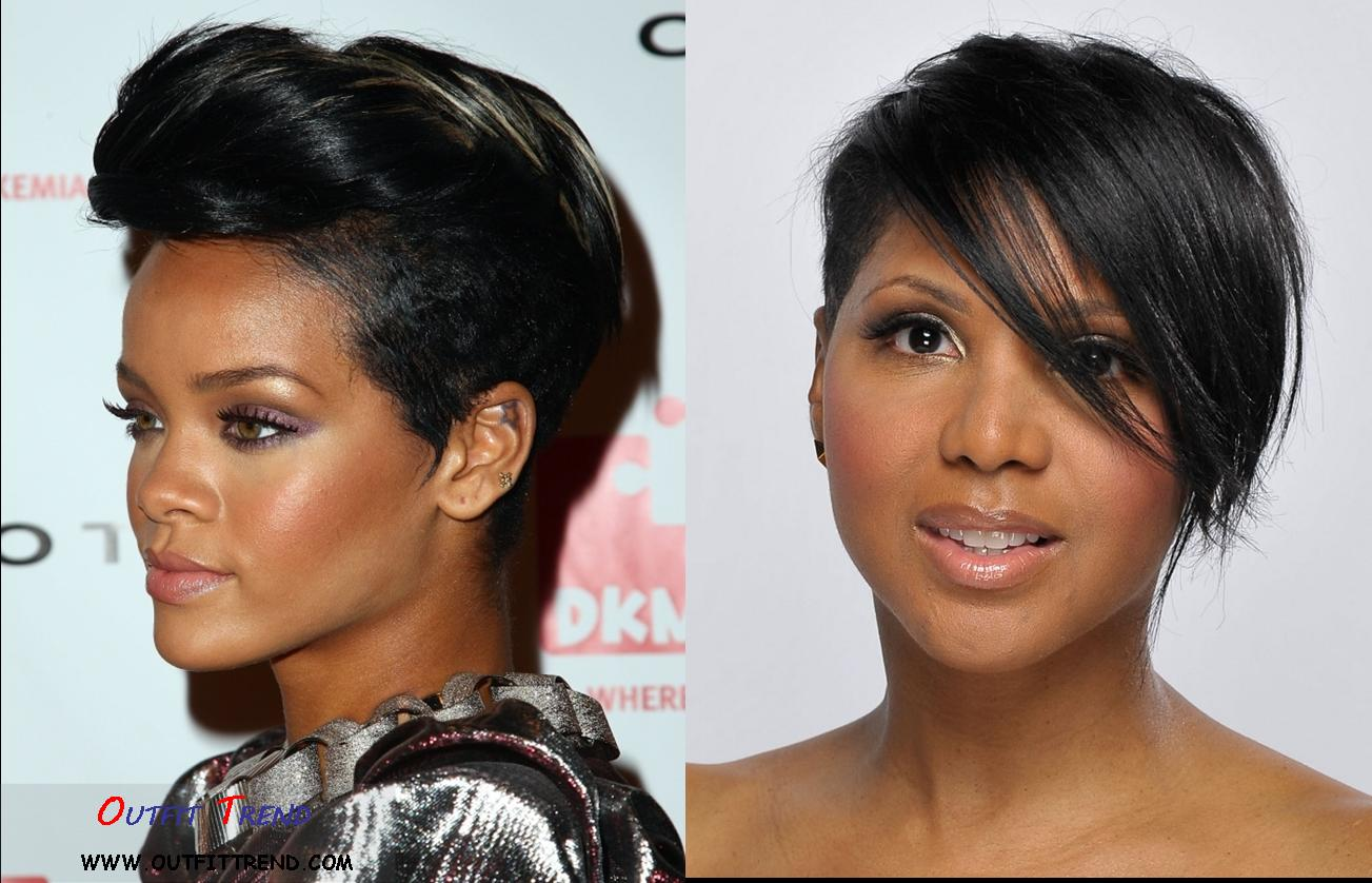 Rihana-Mohawkh-Hair-Style 14 Top Celebrities Inspired Short Hairstyles To Follow This Year
