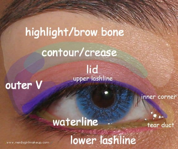 eye-parts-for-eyemakeup 15 Easy and Stylish Eye Makeup Tutorials - How to wear Eye Makeup?