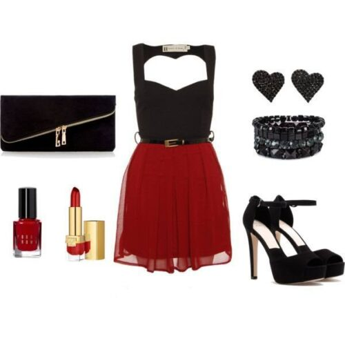 girls valentine outfit combinations - Girls Valentines Outfit